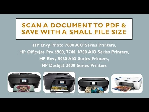 How to get a small PDF file size after scanning?