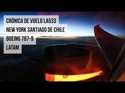 LA 533 New York - Santiago de Chile - Boeing 787-9