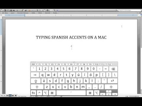 How to add Spanish accents on a Mac