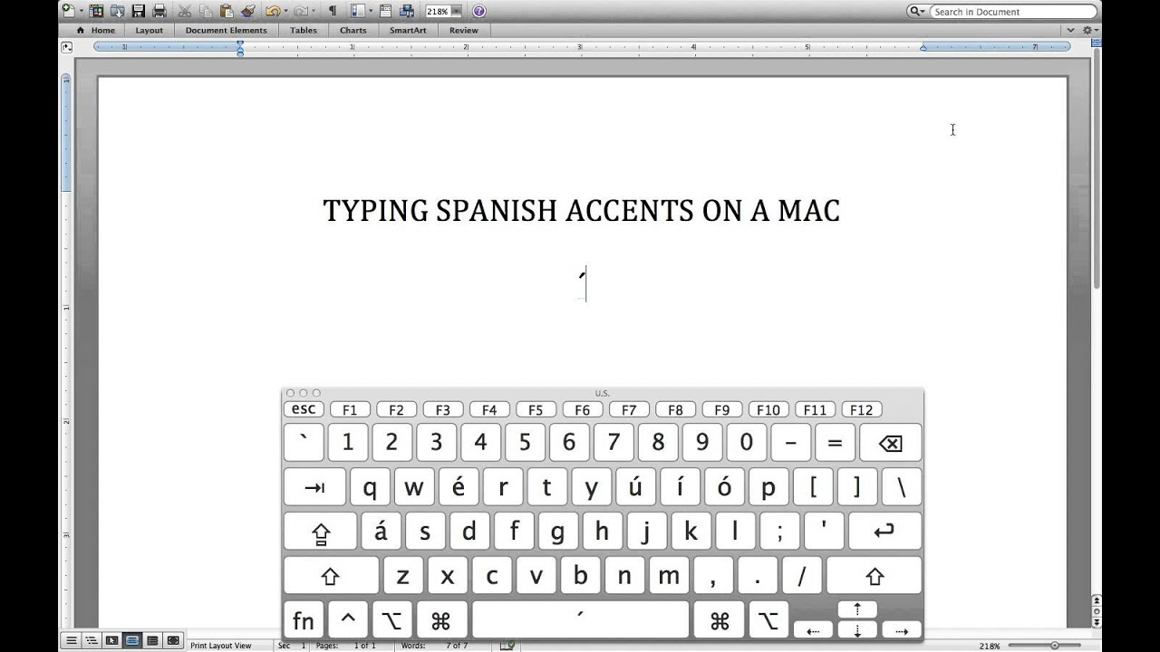 How To Add Spanish Accents On A Mac Youtube