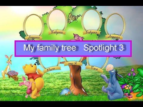 Spotlight 3. Families In Russia. My Family Tree. Семьи в России. Мое родословное дерево