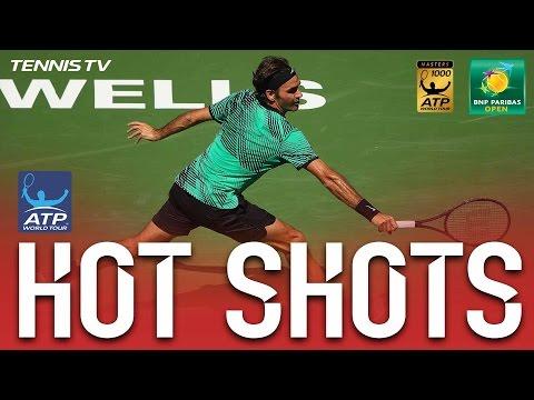 Hot Shot: Federer Feeling The Backhand In Indian Wells