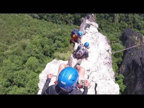 West Virginia NROCKS Via Ferrata headwall view
