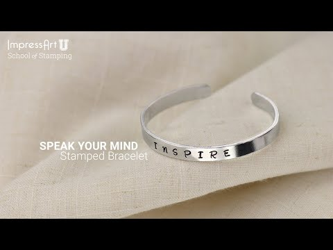 Metal Stamped Bracelet Tutorial by ImpressArt