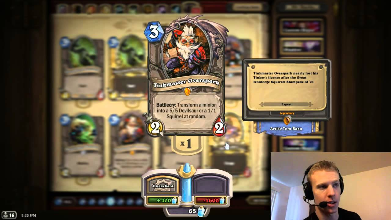 Hearthstone what legendary should i craft youtube for What craft should i do