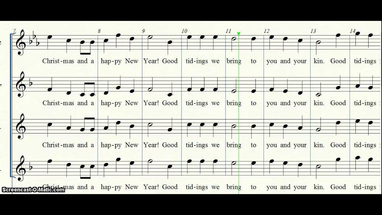 We Wish You a Merry Christmas fl cl alto sax tenor sax - YouTube