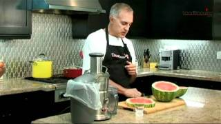 Juicing watermelon with Dr. Bizal