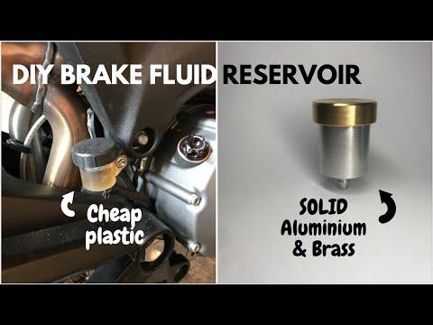 Brake fluid reservoir - Mini lathe projects