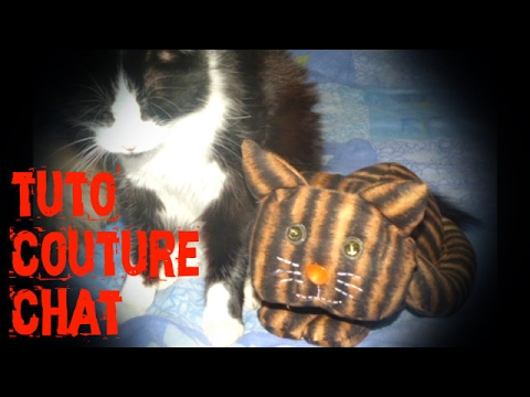 Tuto confection d 39 un chat en tissu youtube - Tuto chat en tissu ...
