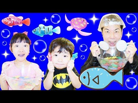 ★「バスルームが水族館に!?」魚や動物がいっぱい~★Bathroom Aquarium★