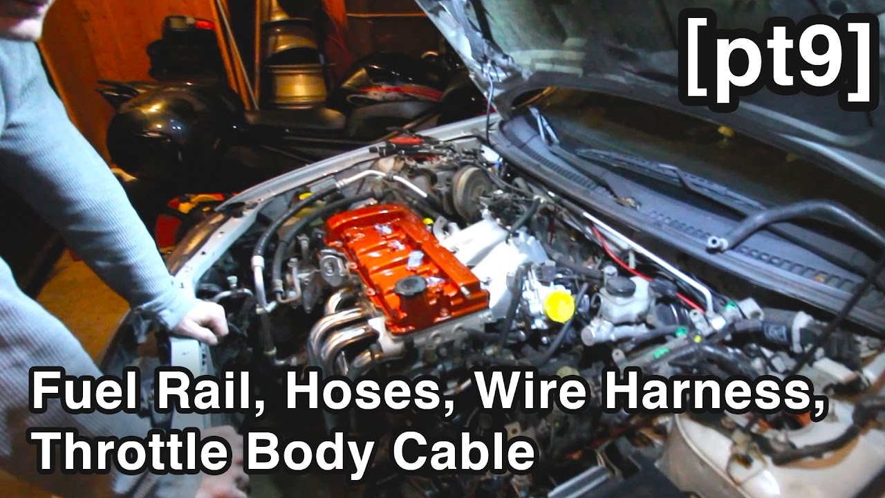 vacuum coolant hoses fuel rail wire harness throttle body cable unbusted mazda rebuild pt9  [ 1280 x 720 Pixel ]
