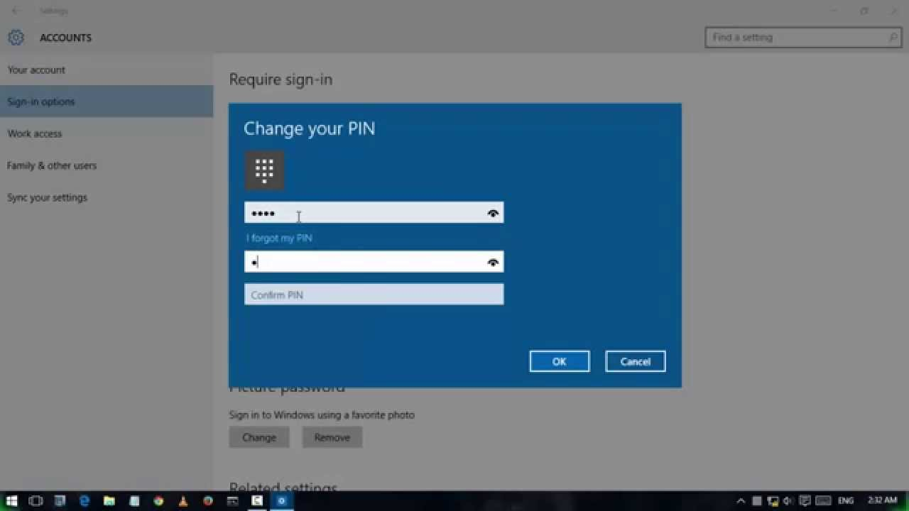 windows 10 remove pin sign in option