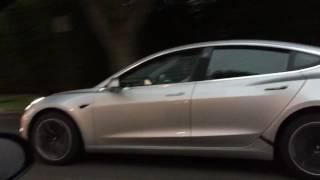 Silver Tesla Model 3 Beverly Hills 6/30/2017