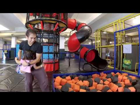 Trampolining With The Kids!  - Amped Trampoline Park Malaysia