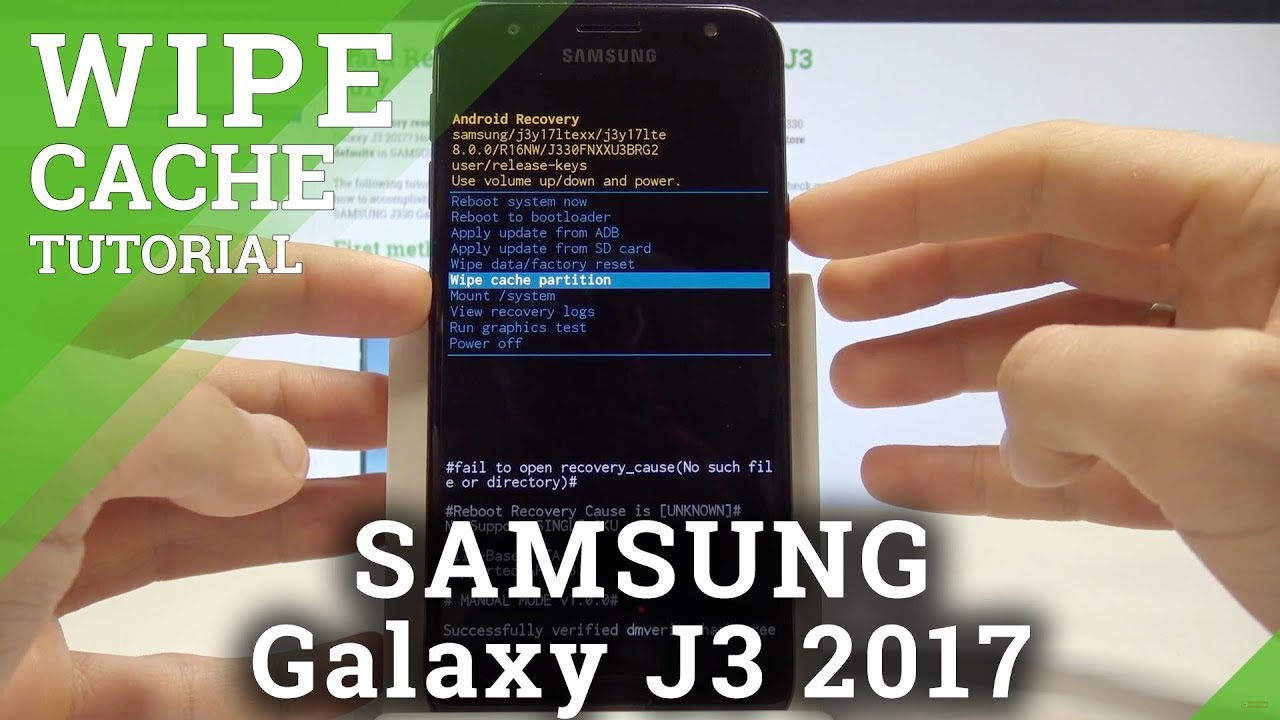 How to Wipe Cache Partition in SAMSUNG Galaxy J3 2017 - Refresh System by  Removing Cache