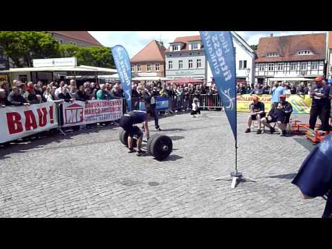 ( Strongwoman ) 55 kg Apollons Axle vom Boden