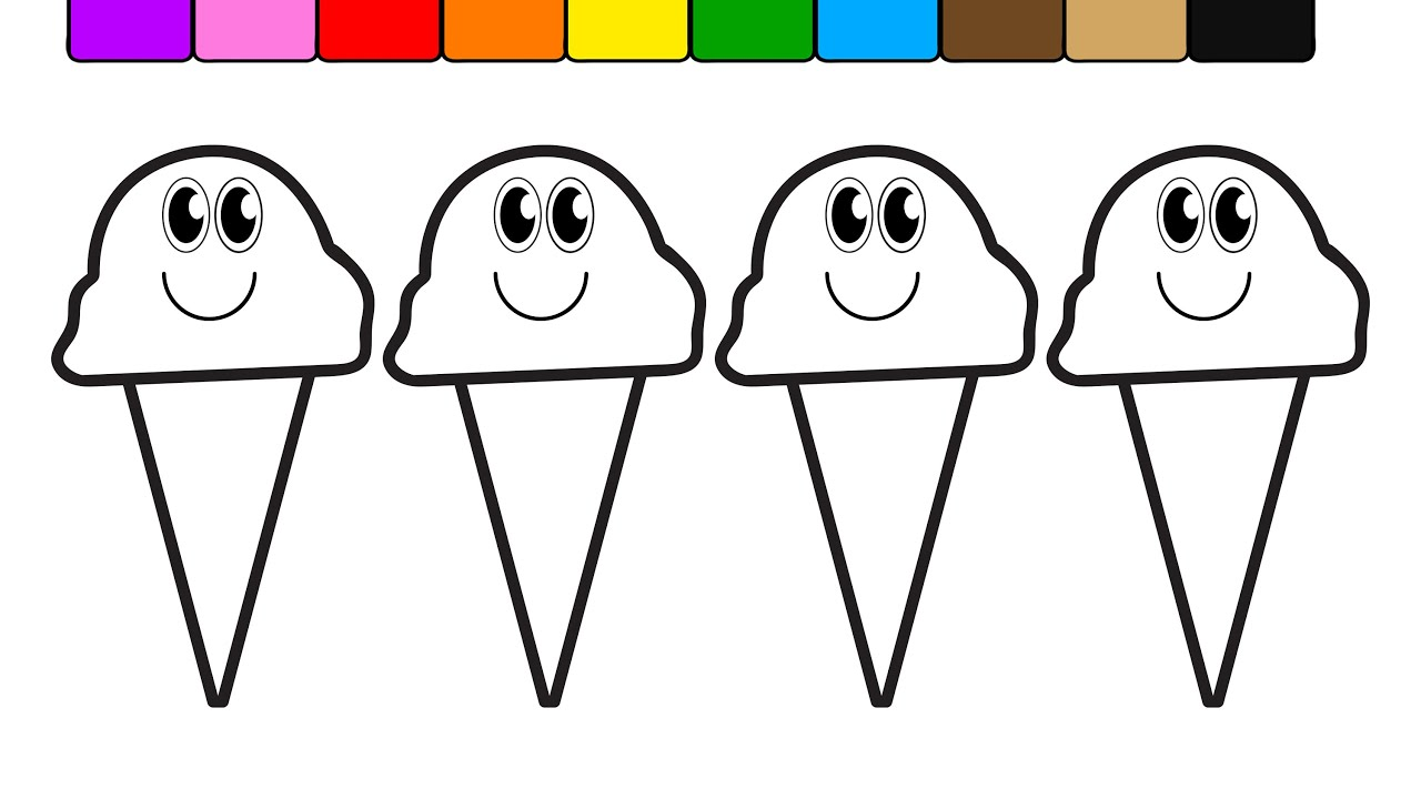 learn colors for kids with this ice cream popsicle coloring page 6