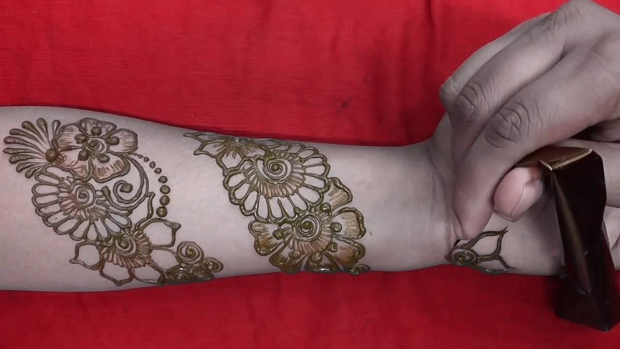 Flower Bangles Mehndi : Simple arabic mehndi designs for beginners