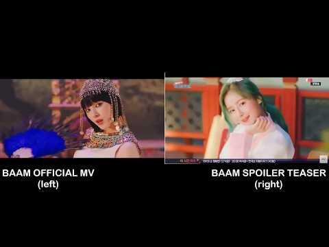MOMOLAND - BAAM ( Oficial Mv/ Spoiler Teaser) COMPARISON