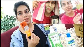 My Weakly Skin care Routine Amazon sale Jade Roller, Gua Sha, Oxyblast Facial, Himalaya Face Wash