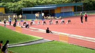 Men 100m Finals - 72nd Singapore Open 2010