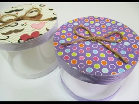 Diy 98 Gift Box From Recycled Plastic Bottle Youtube