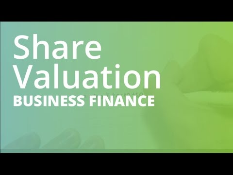 Share Valuation | Business Finance (FINC101)
