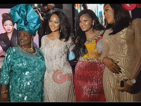 Omotola Dances For King Sunny Ade As The Legend Sings and Hails Her At Her 40th Birthday Party