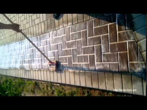 Очистка тротуарной плитки средством КИМ (Дуб) | Удаление остатков цемента