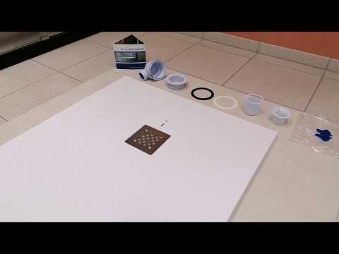 www.ceramicasud.it Piatto doccia basso extraslim  H 2,5 cm. effetto pietra con piletta in acciaio