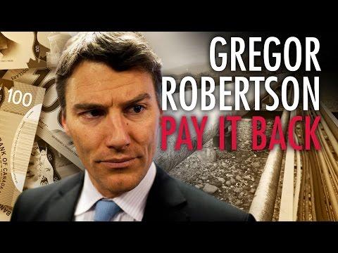 Vancouver Mayor Robertson Must Pay Back 323K