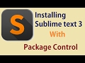 Installing Sublime Text 3 with Package Control on Windows
