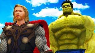 The hulk vs thor - epic superheroes battle