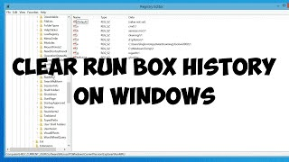 Clear Run Box History Windows