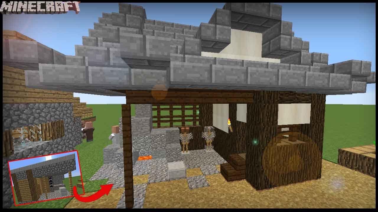 Minecraft - Transform A Village Blacksmith! Japanese Style!