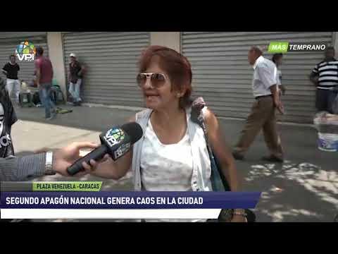 Venezuela -  Segundo apagón nacional genera caos en la ciudad capital- VPItv