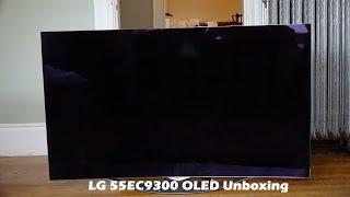 LG 55EC9300 OLED Unboxing & Setup