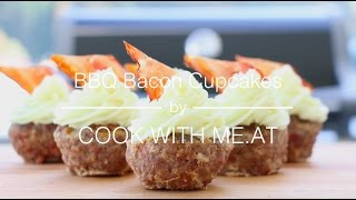 BBQ Bacon Cupcakes - Grilled Mini Meat Loaf with Mashed Potatoes - COOK WITH ME.AT