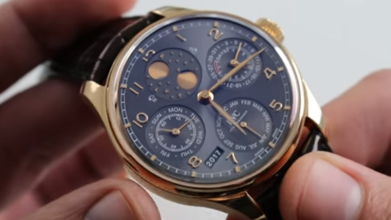 faa26ccc948 IWC Portugieser Perpetual Calendar Double Moon Ref. IW503404 Watch Review