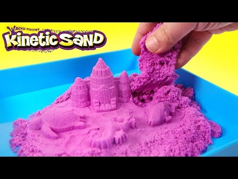 MAKE KINETIC SAND ACTIVITY PLAY SET REVIEW (PURPLE COLORS) MAKING MAGIC SAND CASTLE! EASY LEARN