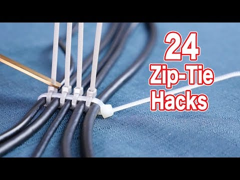 These Clever 24 Zip Tie Home Hacks Make Your Life Easier