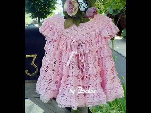 Free Crochet Ruffle Dress Patterns : how to crochet dress free pattern - YouTube