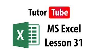 MS Excel Tutorial - Lesson 31 - Tables