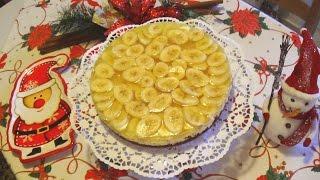 Новогодний банановый 🍌чизкейк! Рецепт пальчики оближешь!