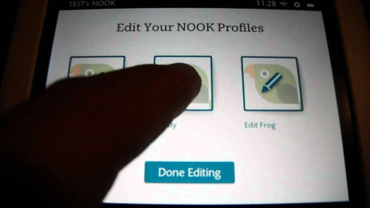 Nook Hd Delete A Profile