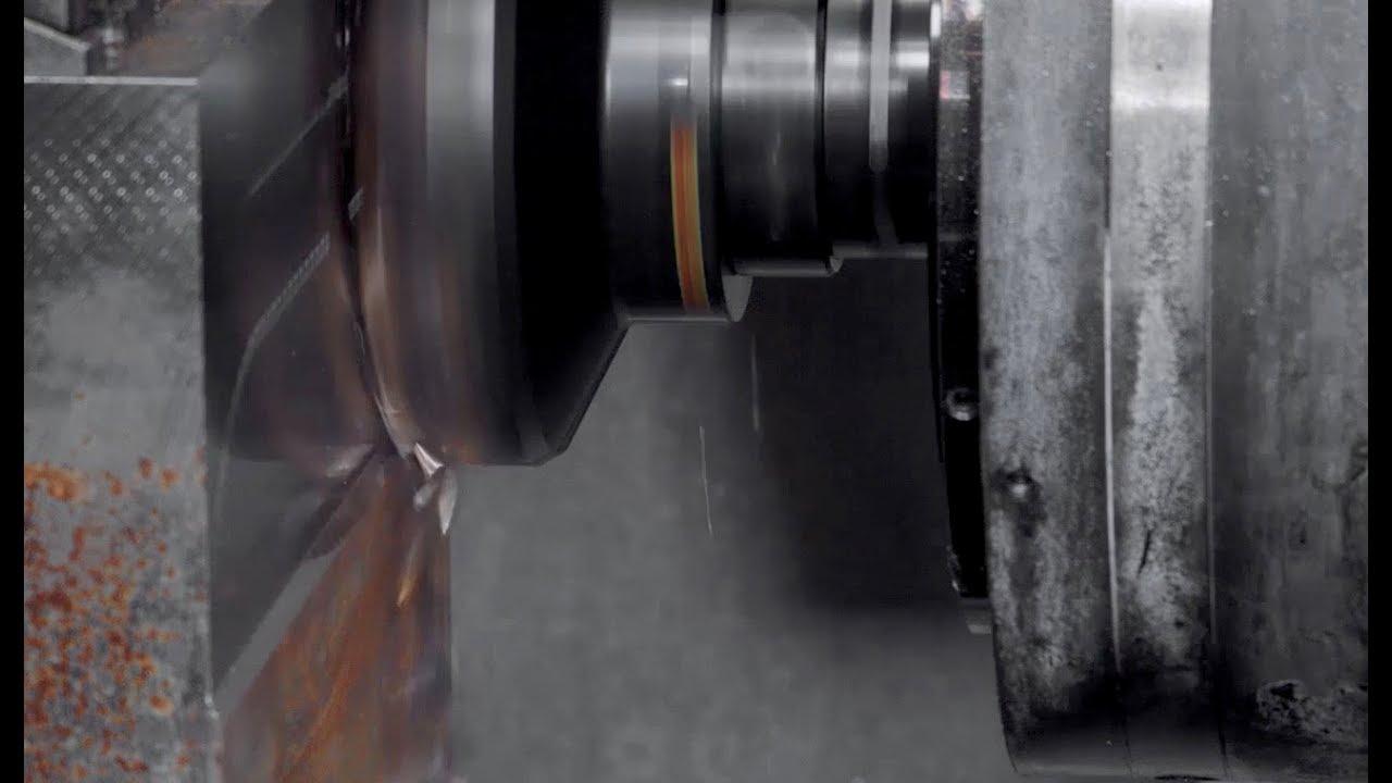 Face milling demo with steel workpiece - Sandvik Coromant