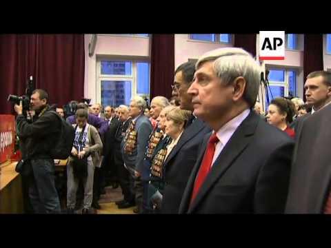 Communists pick Zyuganov for president, Yabloko protest