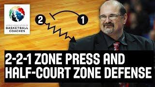 2-2-1 Zone Press and Half-Court Zone Defense - Aleksandar Dzikic Partizan - Basketball Fundamentals