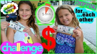 """SHOPPING FOR EACH OTHER  CHALLENGE """" FIVE DOLLAR IN FIVE MINUTES """"  ALISSON&EMILY"""
