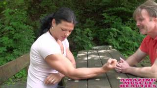 Really strong Oana Hreapca armwrestling